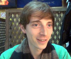 Лукас Аллеманн, учёный из Швейцарии, ныне работающий в Лапландском университете (Рованиеми). Вот такие люди встречаются в наших апатитских пивнушках.